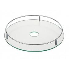 Полка стеклянная d=350 мм ( хром )