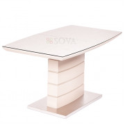 Стол Triton (140-180)х80х76  см мат.латте/кремовый