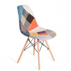 Стул Eames Style Patch Work ткань (цветная)