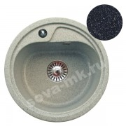 Мойка GRANSINK ES-10-308 D=440 мм черная