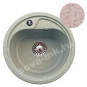 Мойка GRANSINK ES-10-311 D=440 мм светло-розовый