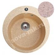 Мойка GRANSINK ES-13-311 D=495 мм светло-розовый