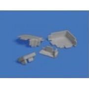 Комплект заглушек для алюм. прямоугольного плинтуса, ( серый )