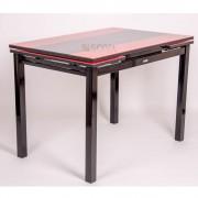Стол Шанхай-Каре (110-170)х74х79 см Красный/Черный