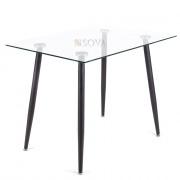 Стол Айрон стекло (100х70 см)